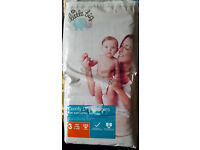 2x Morrisons Comfy Dry Nappies Size 3 - Pack of 52 (104) + 1x Huggies Pullups Size Medium (14)