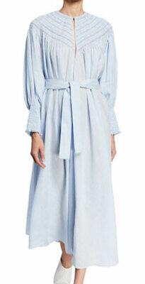 "WOW! New Tags Gabriela Hearst ""Margarita"" dress $1790 blue sz 42 US 6"