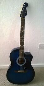 Lindo Blue Acoustic Guitar (right handed)