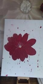 Hand painted acrylic flower