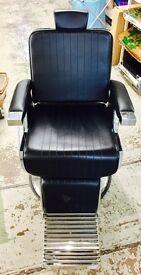 Brand New Black Leather Salon Chair