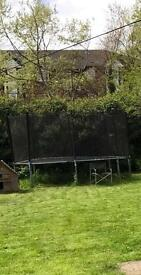Large Trampoline with safety netting