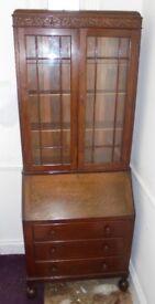 Bureau bookcase, oak 1910-1920s