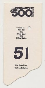 1983-Indianapolis-500-Back-Up-Card-51-for-Pit-Badge-Credential-IndyCar-Indy500