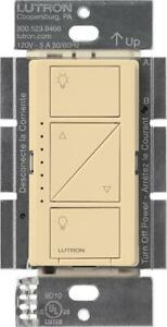 Lutron PD-6WCL-IV-C Caseta Wireless 600-Watt Single Pole In-Wall Dimmer, Ivory (Works with Alexa)