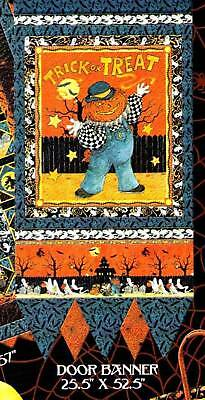 Boo Who Halloween Fabric Quilt Kit Door Banner  REDUCED PRICE