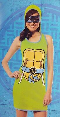 Womens Teenage Mutant Ninja Turtles Sexy Halloween Costume Leonardo 6 14 M L NEW](Womens Ninja Turtles Costume)