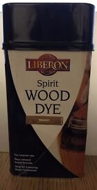 LIBERON SPIRIT WOOD DYE 1 LITRE - WALNUT