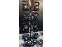 Kettlebell Set - 118 KG - 10x Weights + Stand
