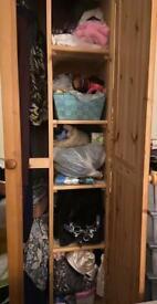 Wooden solid wardrobe