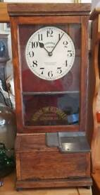 National Time Recorders signature clock