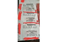 3x Beyonce and Jay-Z seated tickets 15th June