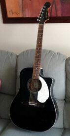 Fender FULL SIZE electro-acoustic Cutaway guitar