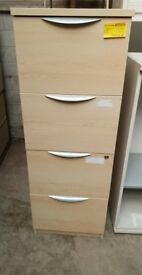 4-Drawer Wooden Filing Cabinet (No Key)