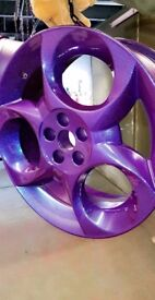 Alloy wheel refurnish colour change