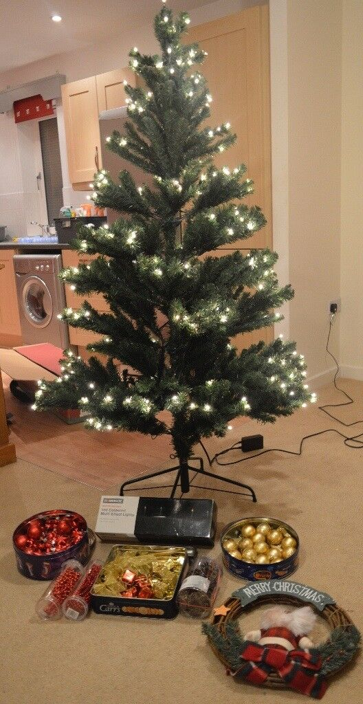 Nice Christmas Tree With Built In Lights All Working With Some Decorations In Cholsey Oxfordshire Gumtree