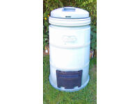 """Composter Bin 'The Compost Machine' in grey. Approx 40"""" high x 20"""" in diameter. Complete with"""