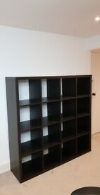IKEA - KALLAX - Shelving unit, black 147x147 cm