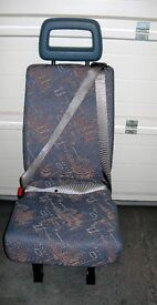 Minibus Single Seat With Fitted Seatbelt
