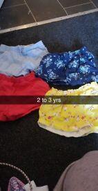 Bundle of girls summer shorts