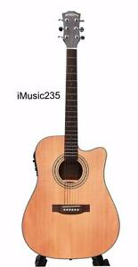 Solid Top Cedar Acoustic Electric Guitar 41 inch iMusic235