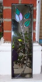 Mackintosh Style Leaded Panel Mirror
