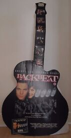 Large Cardboard Guitar to promote BACKBEAT Beatles film starring Stephen Dorf