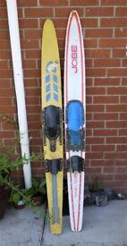 Two mono water skis. Marine ply