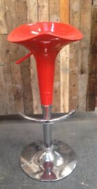 BRAND NEW IN BOX ORANGE GAS LIFT BAR STOOLS