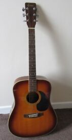Encore Acoustic Guitar and bag, loft clearance.