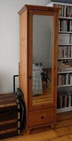 Single door wardrobe with mirror