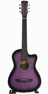 Purple acoustic guitar 3/4 size 36 inch for kids iMusic812