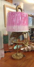 Flamingo Lamp fabulous pink and gold large Lamp new