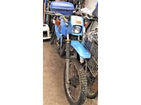SUZUKI Ts50X TASTY TRIALS bike, yr 85. Unused for 15 yrs. 6.4K miles. Needs minor work.