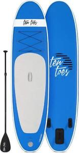 Brand New Ten Toes 10' Weekender Inflatable Stand Up Paddle Board Bundle, Blue model 2589 (2 available)  DI15