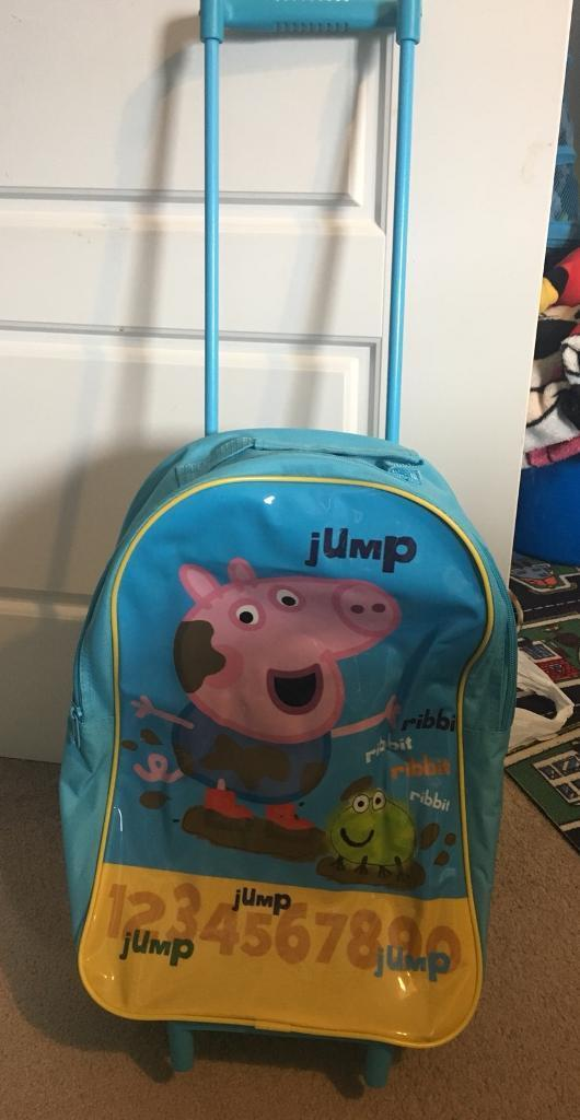 George Peppa Pig Wheely suitcase and rucksack
