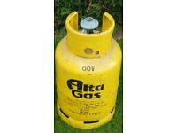 Flogas Gas Cylinder. 15kg and regulator. FULL. £25. Ideal for room heater.