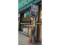 JOB OFFERED IMMEDIATE START NOW We are looking for a man to stand in the street with a sign pole.