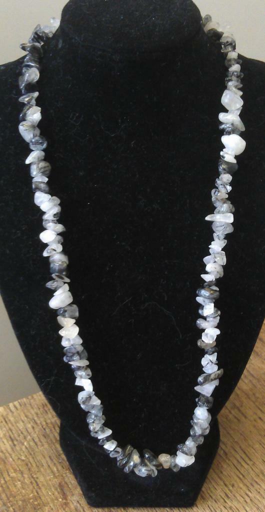 "Tourmaline in Quartz Necklace, 16"" to 34"", Long Necklace, Short Necklace"