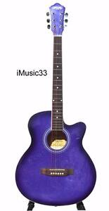 Acoustic Guitar Purple 40 inch for beginners iMusic33