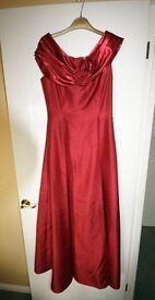 Ladies Long Bridesmaid Dress + Underskirt & Headdress