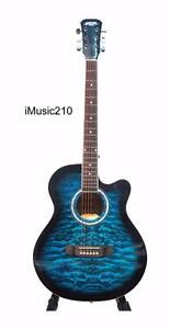 Acoustic Guitar for beginners Blue 40 inch iMusic210