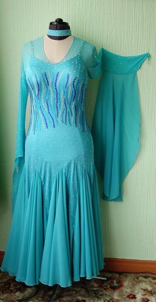 Ballroom Dance Dress in Aqua/Sea Blue - size 14-16 UK | in Horsforth ...