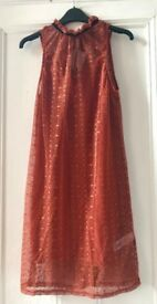 BNWT New Look Rust Lace Dress Size 10