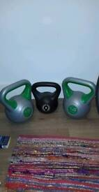 3 kettlebells for sale 2 x 16kg & a 8kg great condition