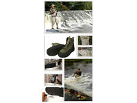 Bison chest waders and wading boots.