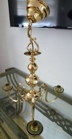 Gold Plated 3 Light Ceiling Pendant Bought Years Ago In Harrods and in Great Condition