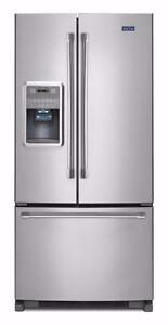 Réfrigérateur 33 Maytag portes françaises, stainless