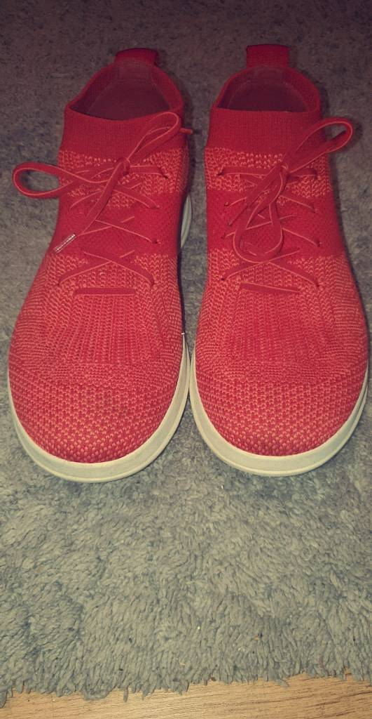 b8996838a78aea Fit flop ladies trainers uberknit size UK 6 in red excellent condition