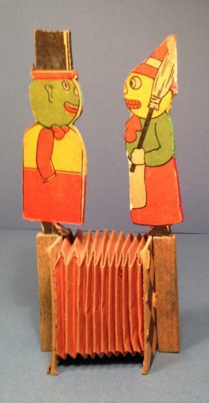SCARCE Antique Vintage Squeaker Noisemaker VEGGIE COUPLE Germany 1910s-20s